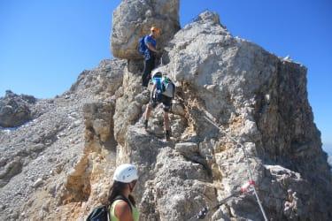 ..über Klettersteige zum Gipfel..