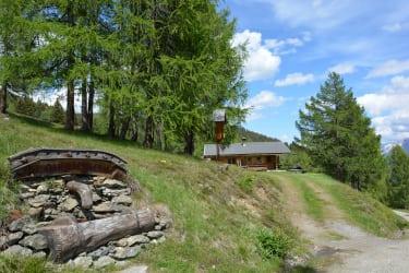 Einfahrt zur Hütte