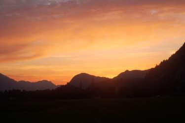 Sonnenaufgang am Schleicherhof