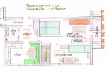 FEWO Wiesengrün Grundriss