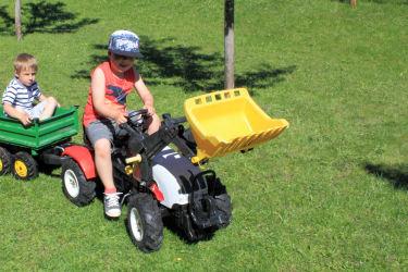 Traktorfahren am Huaberhof