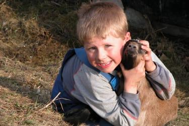 Alex mit Ziege