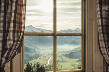 Panorama Blick der Zillertaler alpen
