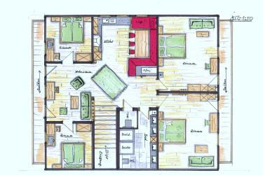 Grundriss Zillertal Suite