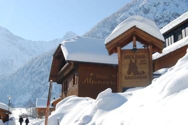 Alpenroseschild quer