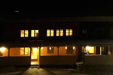Abendstimmung beim Bauernhof Farnach