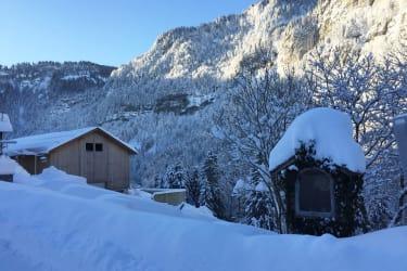 Winter beim Bauernhof Farnach in Andelsbuch-Bersbuch