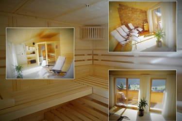 Saunabereich im Dachgeschoss