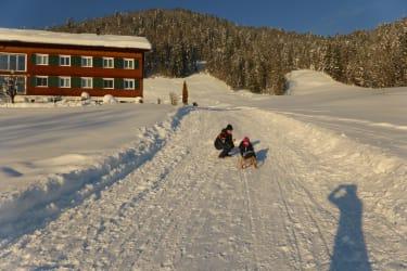 Unsere Rodelbahn im Winter bei ausreichend Schnee