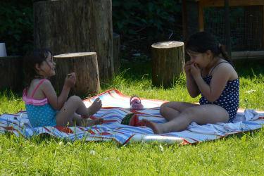 Unsere Wasserratten Katharina und Magdalena