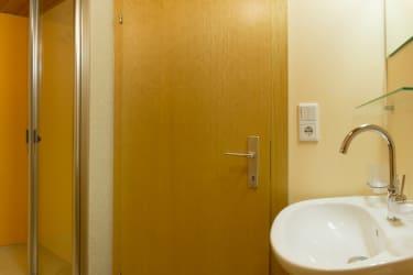 Dusche/WC in der Ferienwohnung Fichtenwald