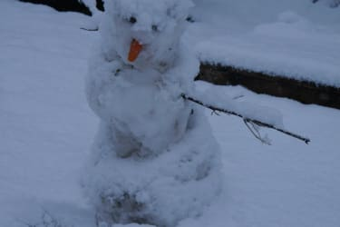 Der erste Schneemann