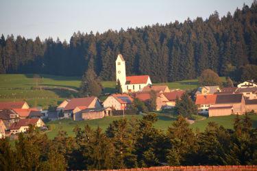Ausblick vom Balkon aus Richtung Dorf