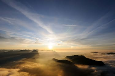 Sonnenuntergang auf dem Diedamskopf