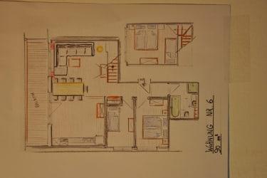 Appartement 6 - Grundriss