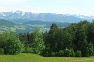 Blick auf die Berge des Bregenzerwaldes
