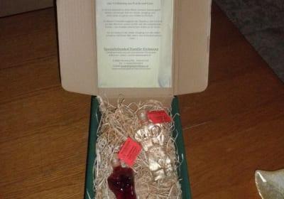 Geschenkspaket Edelbrand und Likör