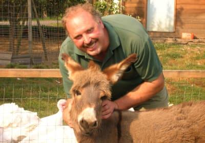 Norbert und Levina unser Esel