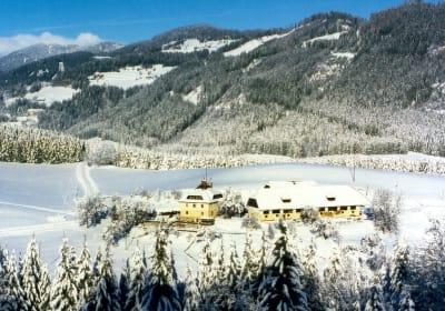The Haberzettl holiday farm in winter