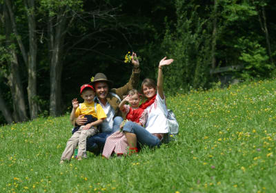 Family on the meadow