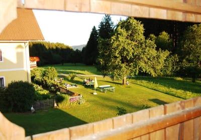 Ausblick auf den Garten