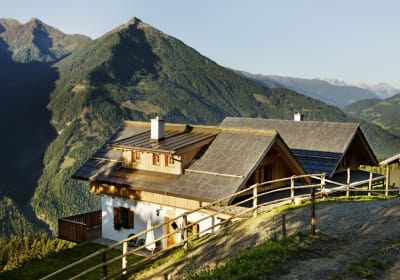The Edelweißhütte in the morning
