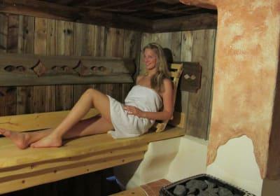 "unsere ""Alm Sauna"""