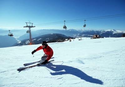 Ski fahren und snowboarden auf der Gerlitzen
