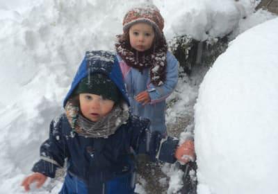 Hui, da gibt es aber viel Schnee!