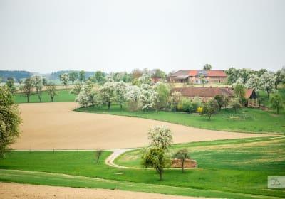 Panoramablick zu unserem Hof