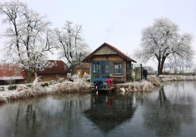 Unser Naturbiotop im Winter