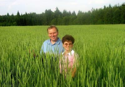 Bauer und Bäuerin