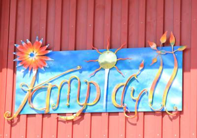 Kampidyll - Logo Eingang