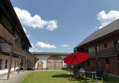 Relaxen im erholsamen Innenhof