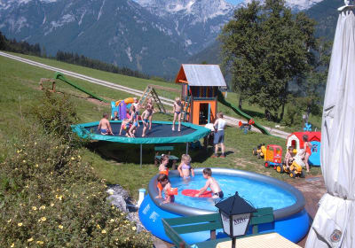 Soft-Pool und Trampolin