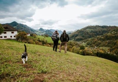 ME- Wanderung mit Blick in das Tal