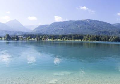 Ausblick auf Abersee von unserem Badeplatz