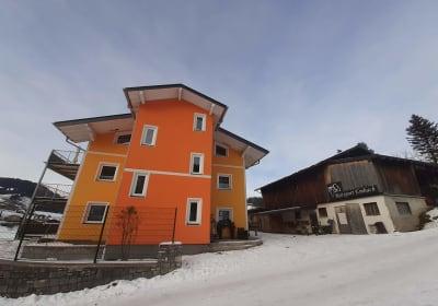 Außenansicht Winter Reiterhof Embach