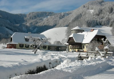 Hof bei Winter