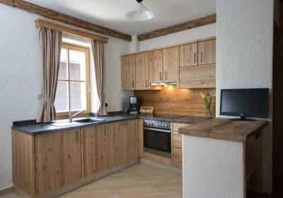"""Voll ausgestattete Küche in der Ferienwohnung """"Staritzenblick"""""""