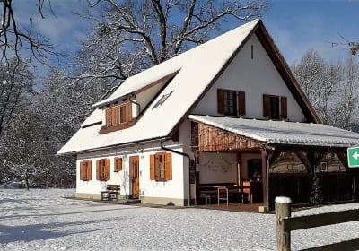 Das Ferienhaus Weber-Hoisl-Mühle im Winter