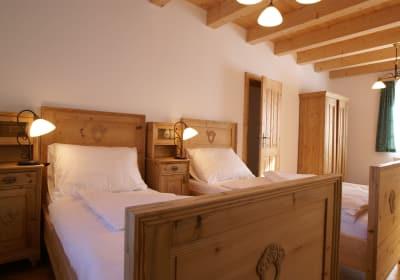Schlafzimmer in der Hirschbirnwohnung