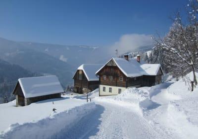 Winterurlaub in der Almhütte
