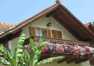 """Balkon unserer Zweizimmerferienwohnung """"Kapelle"""""""