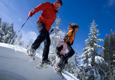 Viel Spass beim Schneeschuhwandern