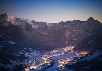Panorama Blick in die Zillertaler Alpen