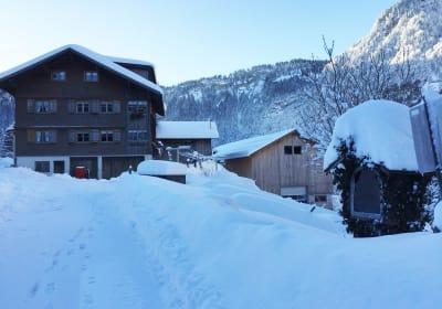 Winter am Bauernhof Farnach in Andelsbuch-Bersbuch