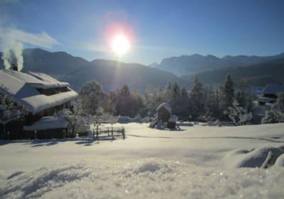 Unser Haus mit Aussicht im Winter