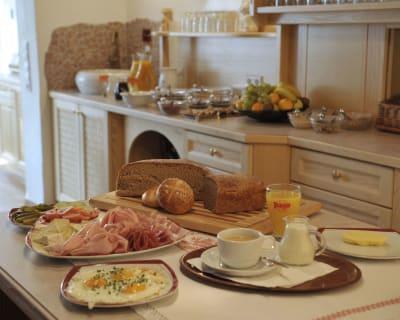 Breakfast Buffet wiht homemade Produkts from our mountainfarm
