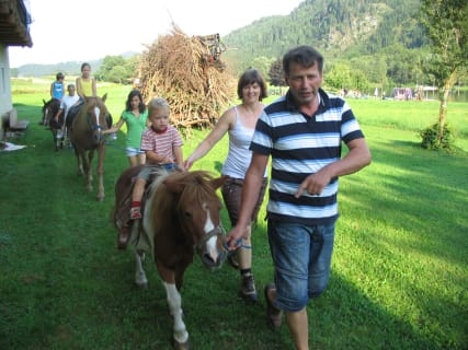 Guided horse riding